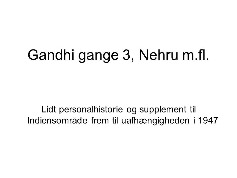 Gandhi gange 3, Nehru m.fl.