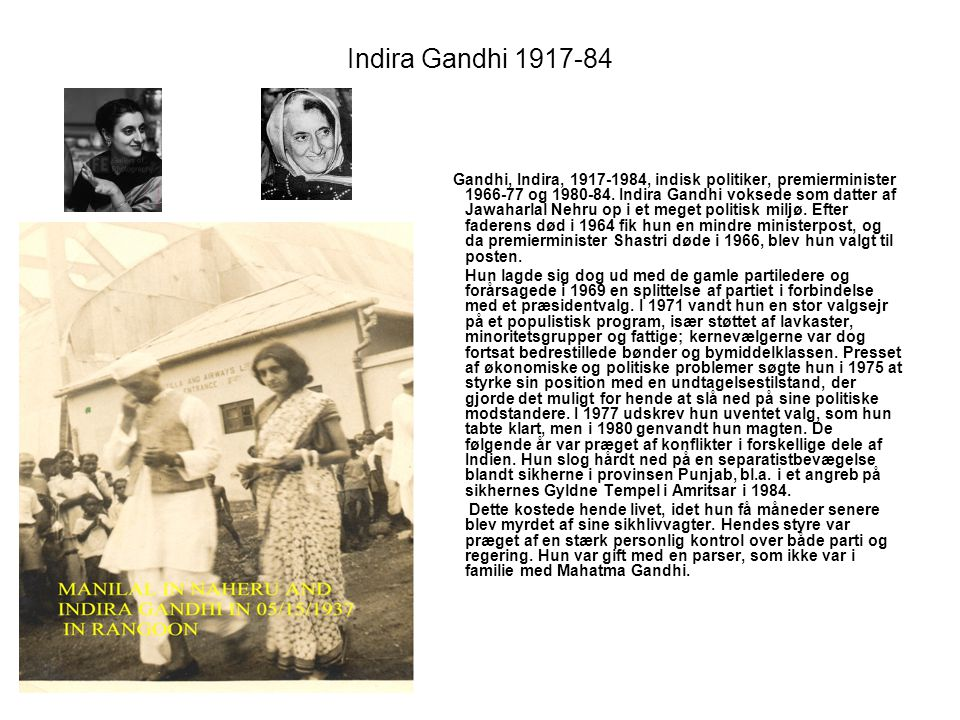 Indira Gandhi 1917-84