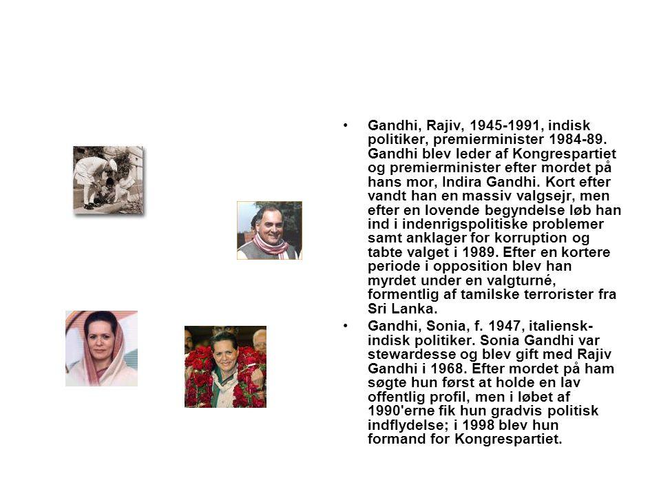 Gandhi, Rajiv, 1945-1991, indisk politiker, premierminister 1984-89