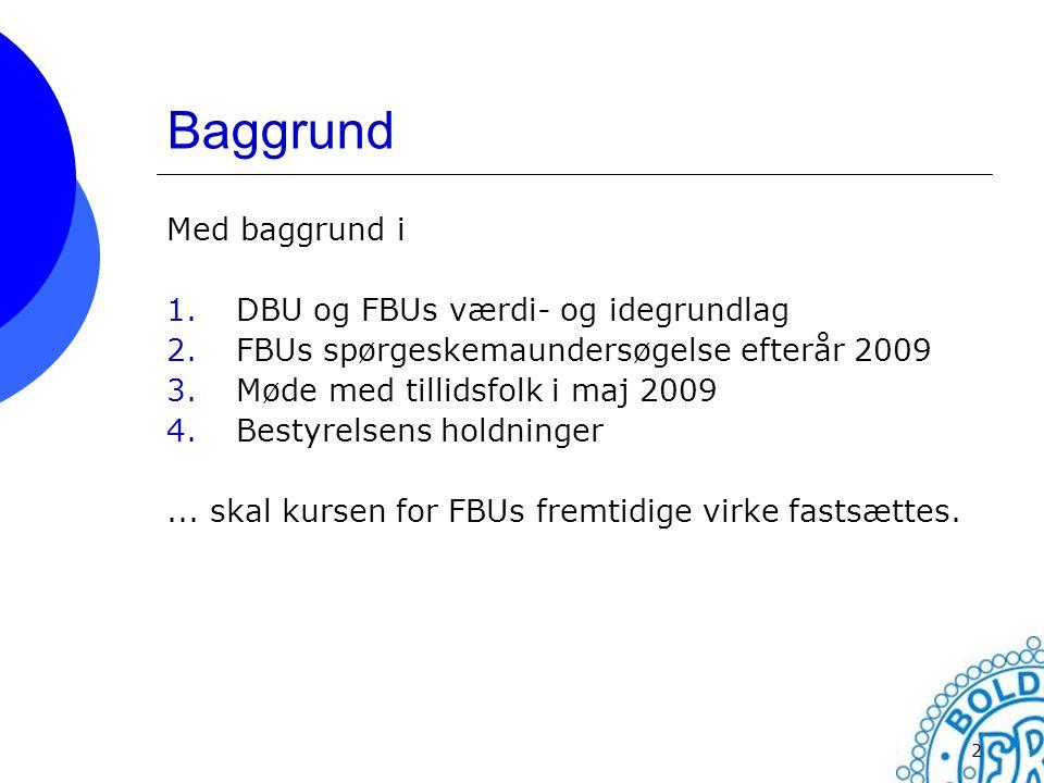 Baggrund Med baggrund i DBU og FBUs værdi- og idegrundlag