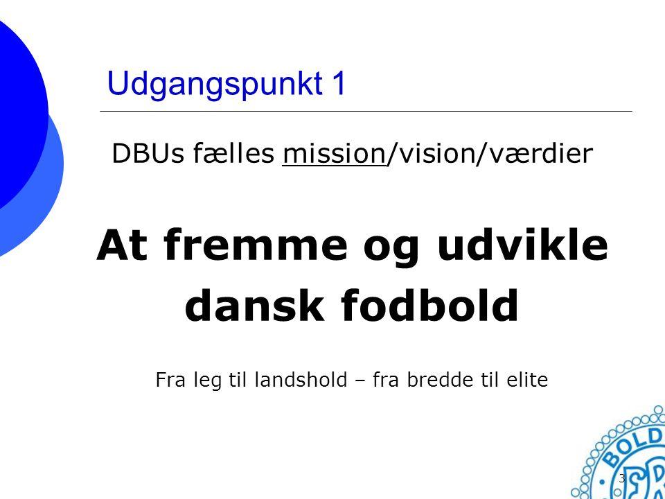 At fremme og udvikle dansk fodbold