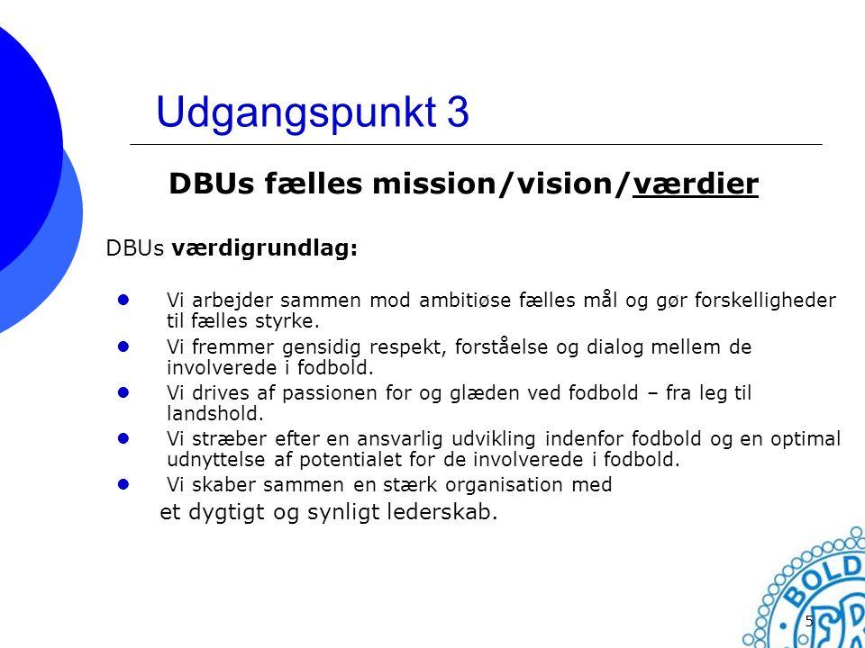 DBUs fælles mission/vision/værdier