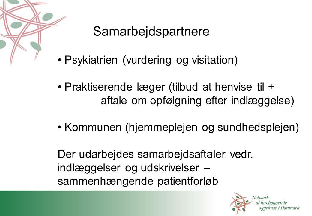Samarbejdspartnere Psykiatrien (vurdering og visitation)