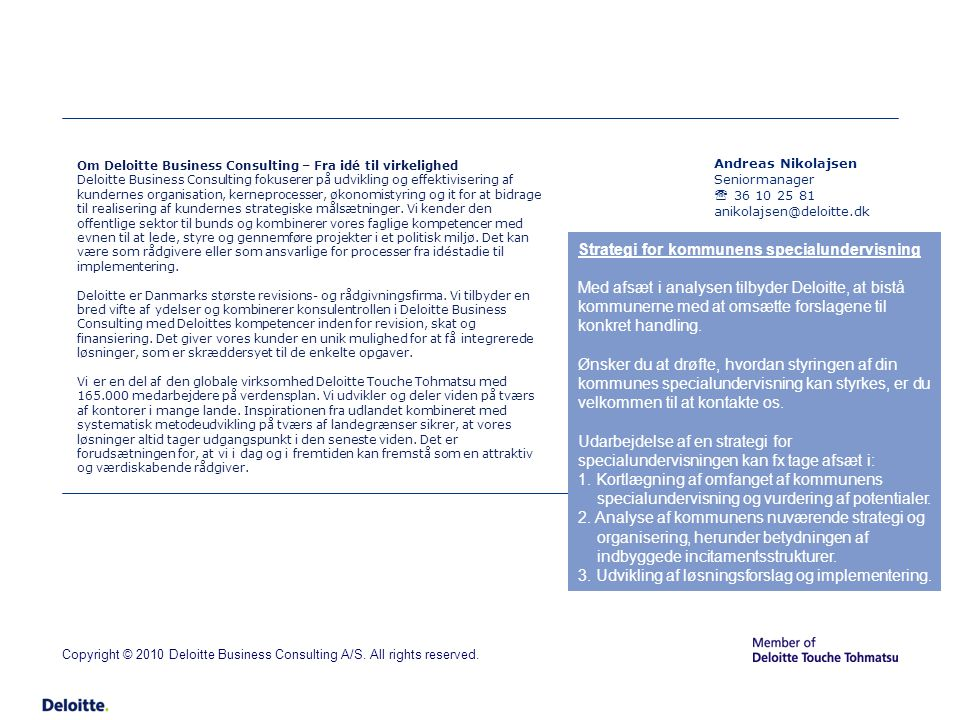 Strategi for kommunens specialundervisning