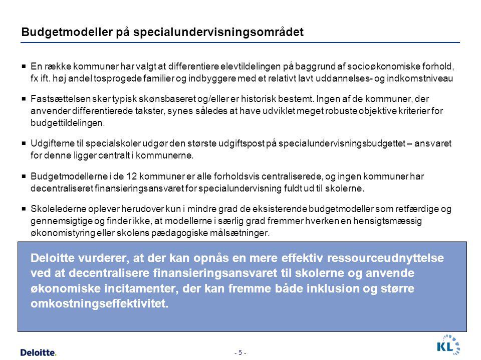 Budgetmodeller på specialundervisningsområdet