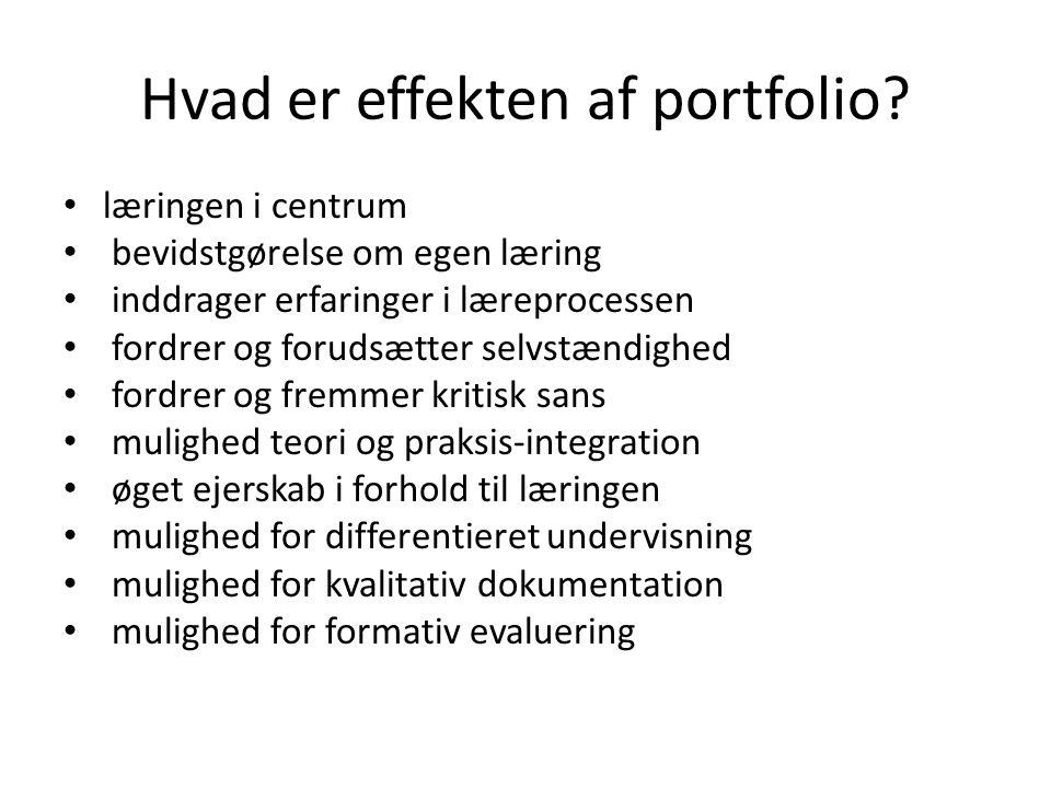 Hvad er effekten af portfolio