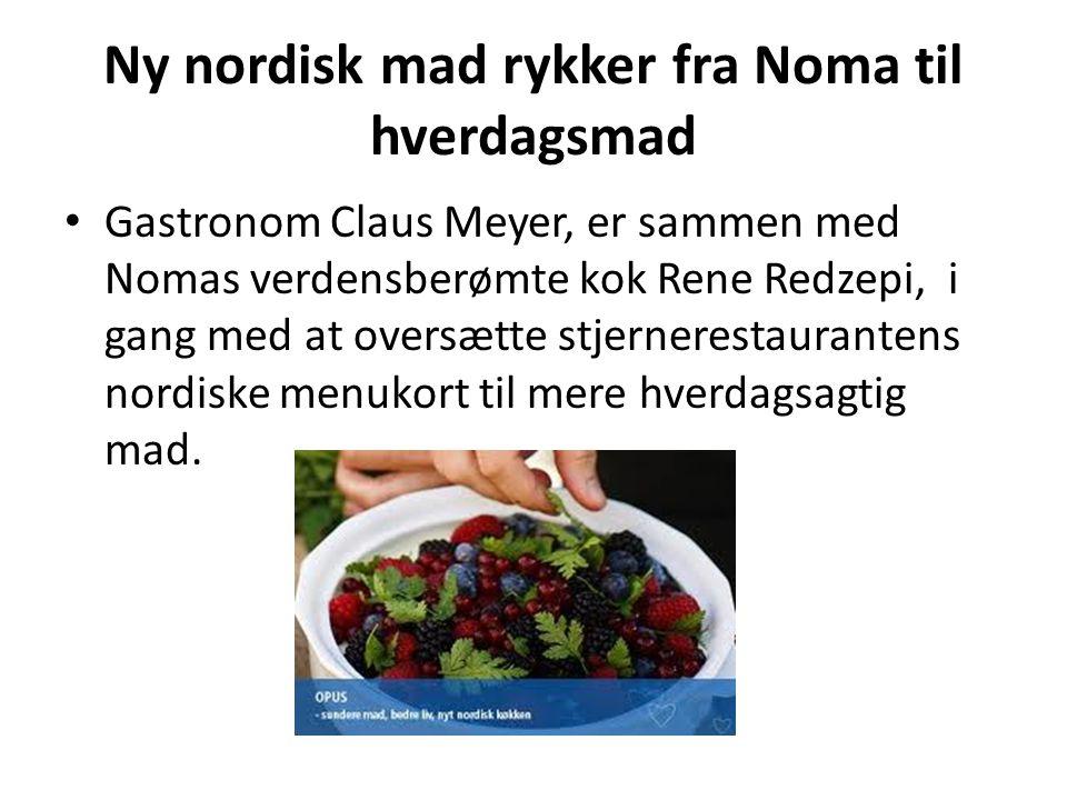 Ny nordisk mad rykker fra Noma til hverdagsmad