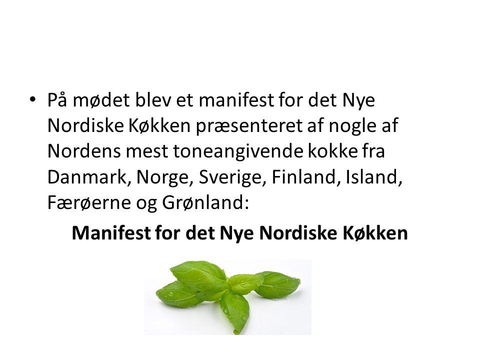 Manifest for det Nye Nordiske Køkken