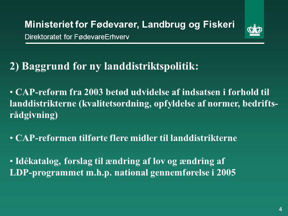 2) Baggrund for ny landdistriktspolitik: