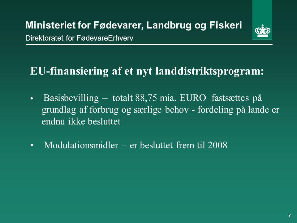 EU-finansiering af et nyt landdistriktsprogram: