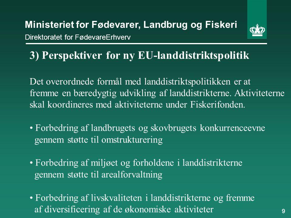 3) Perspektiver for ny EU-landdistriktspolitik