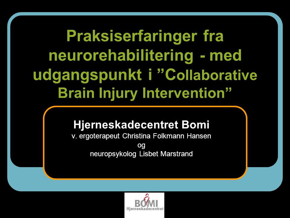 Hjerneskadecentret Bomi