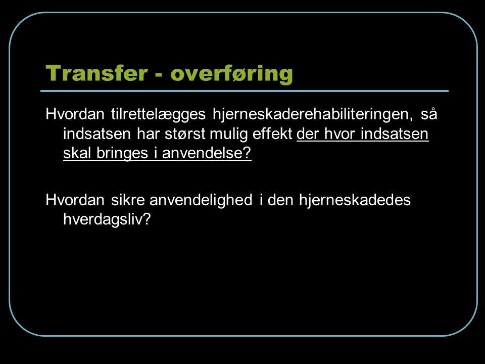 Transfer - overføring