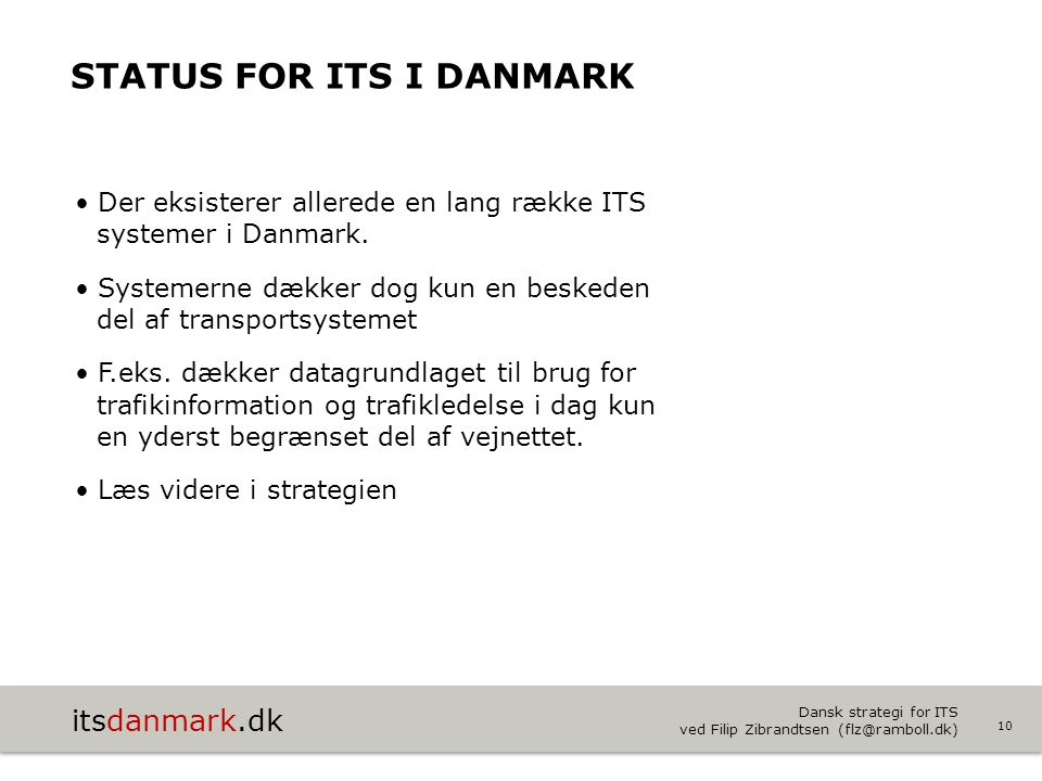Status for ITS i Danmark