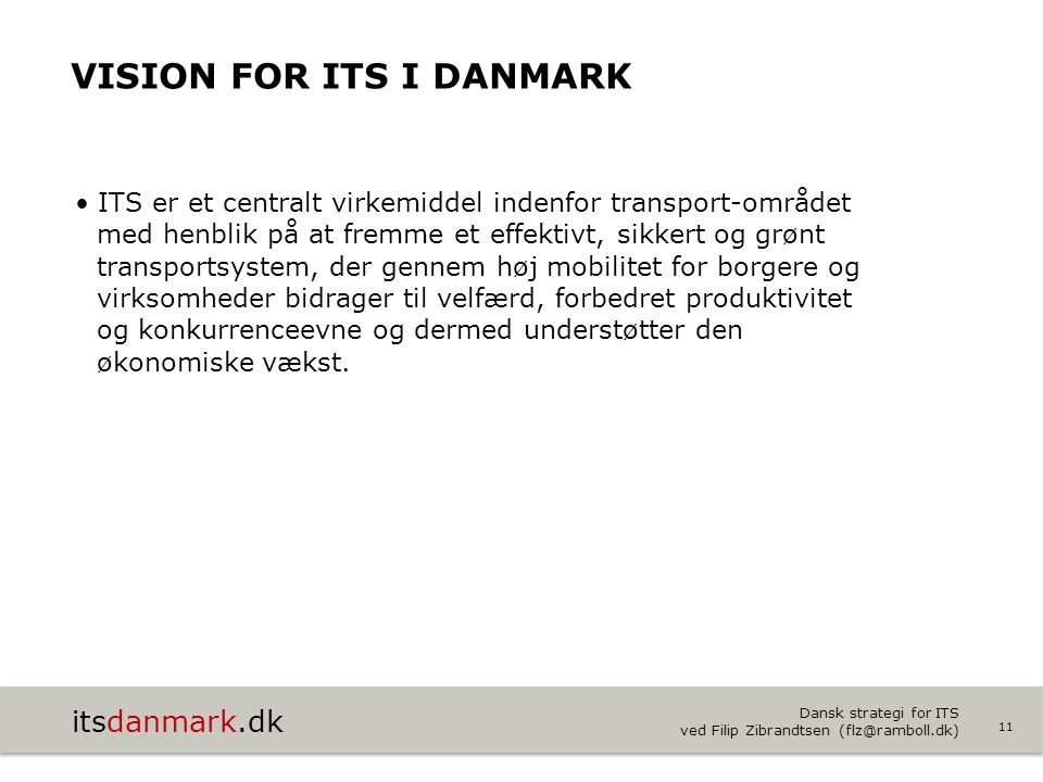 Vision for ITS i Danmark