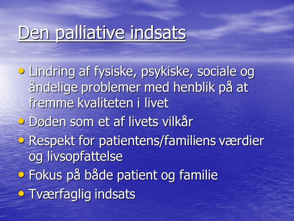 Den palliative indsats