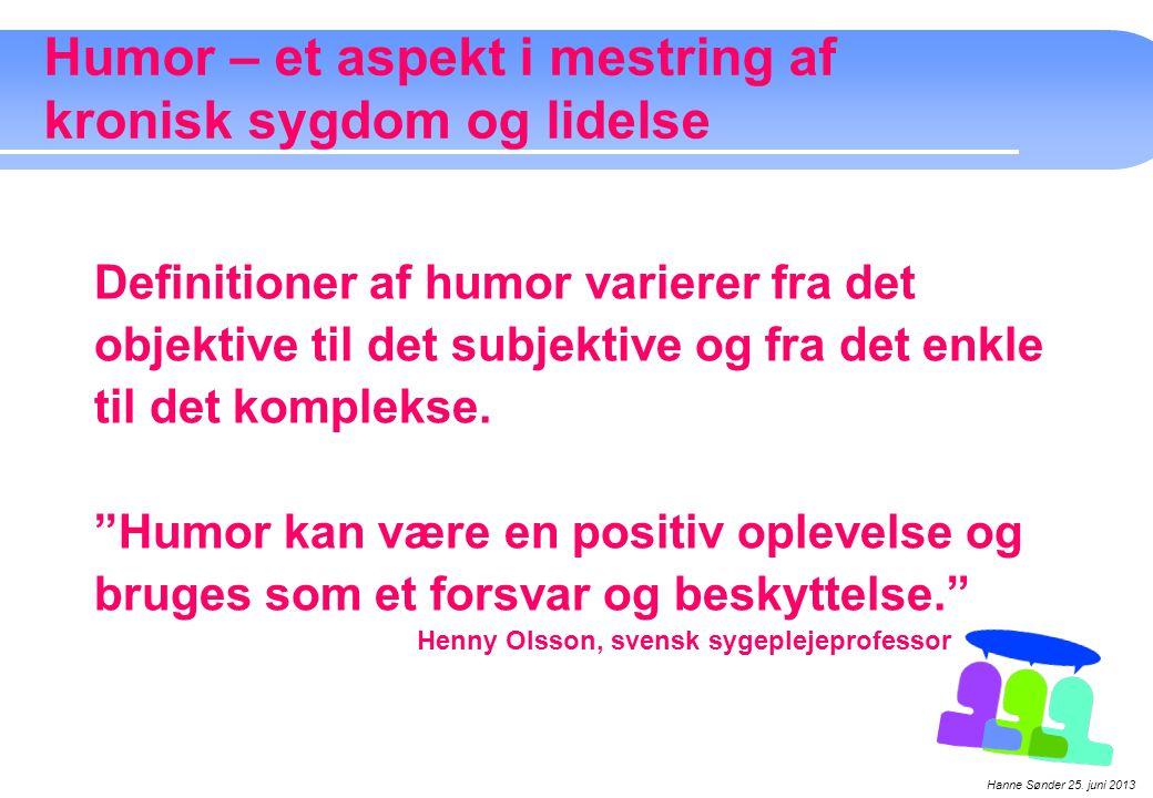 Humor – et aspekt i mestring af kronisk sygdom og lidelse