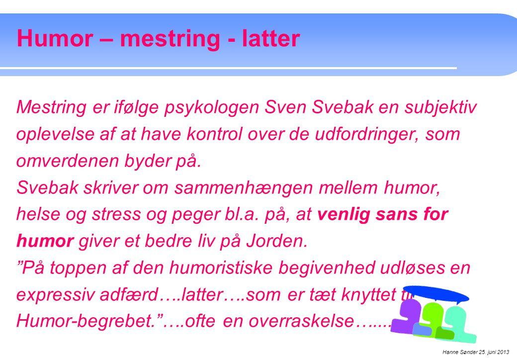 Humor – mestring - latter