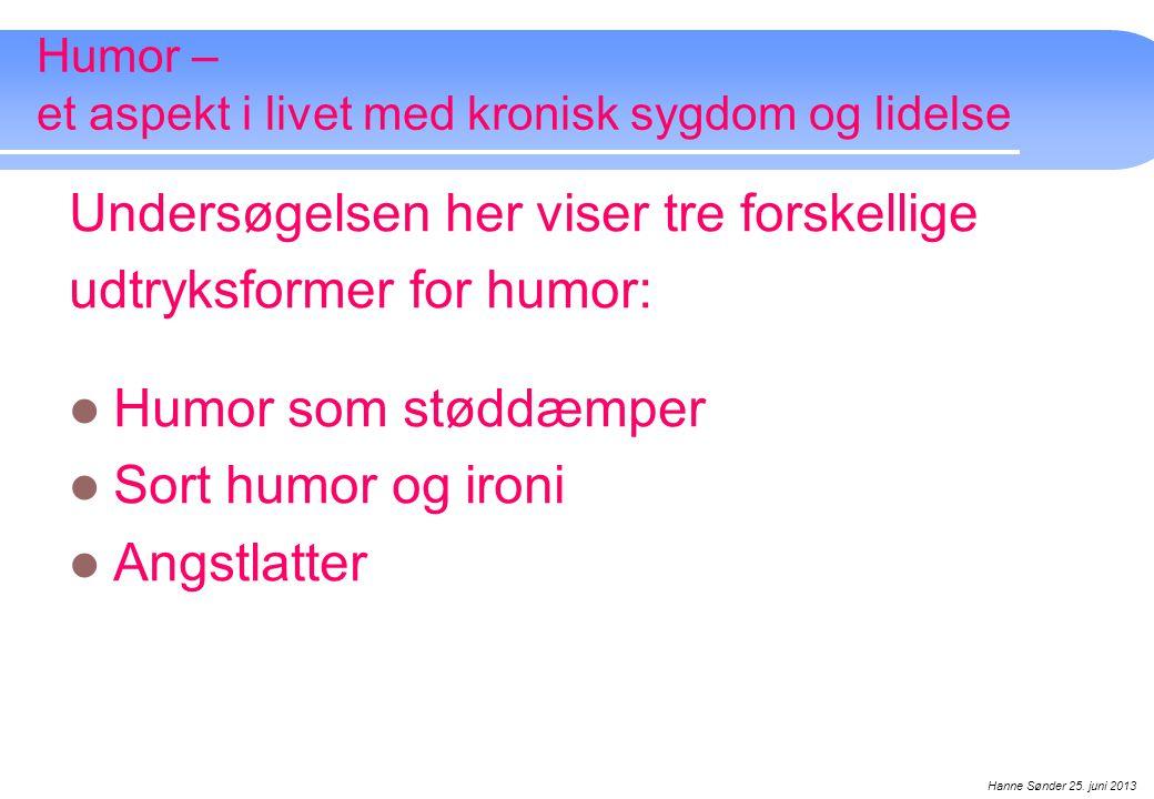 Humor – et aspekt i livet med kronisk sygdom og lidelse