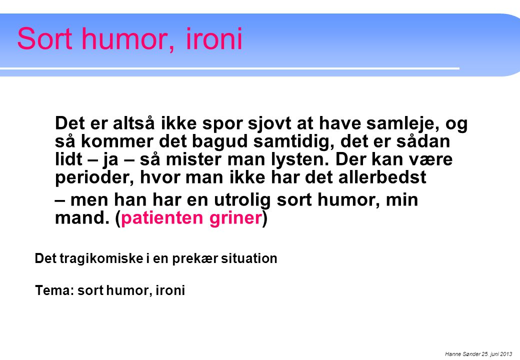 Sort humor, ironi