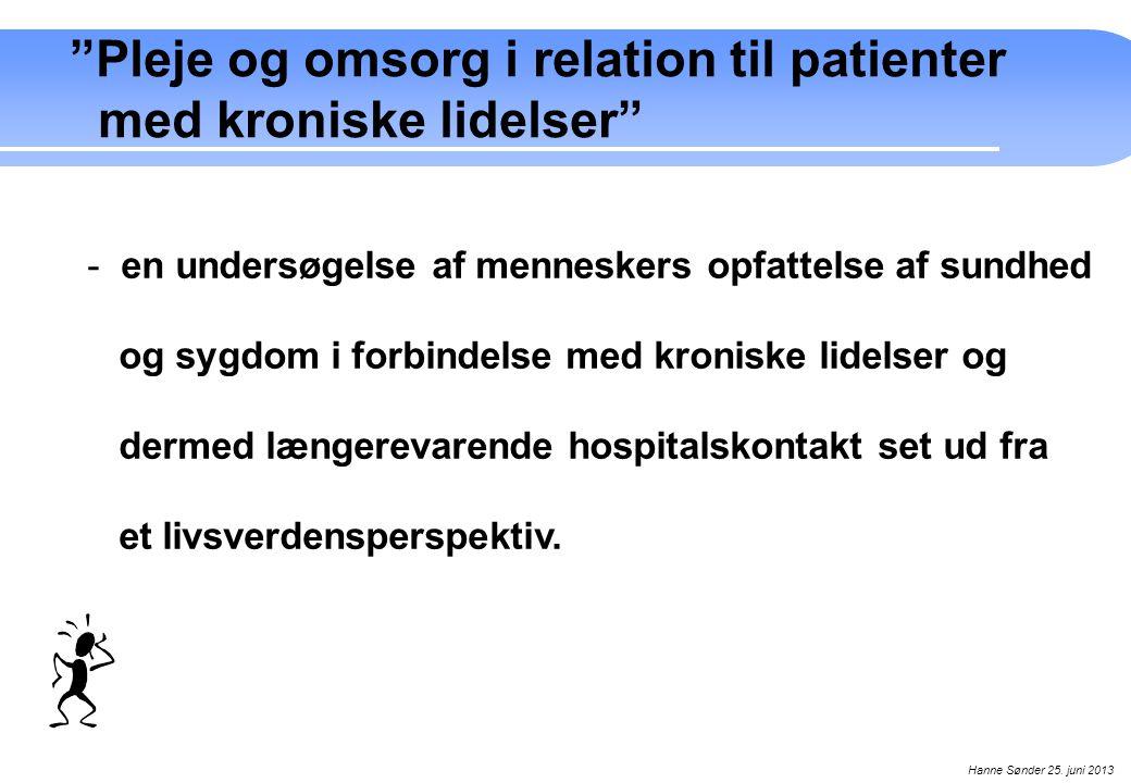 Pleje og omsorg i relation til patienter med kroniske lidelser