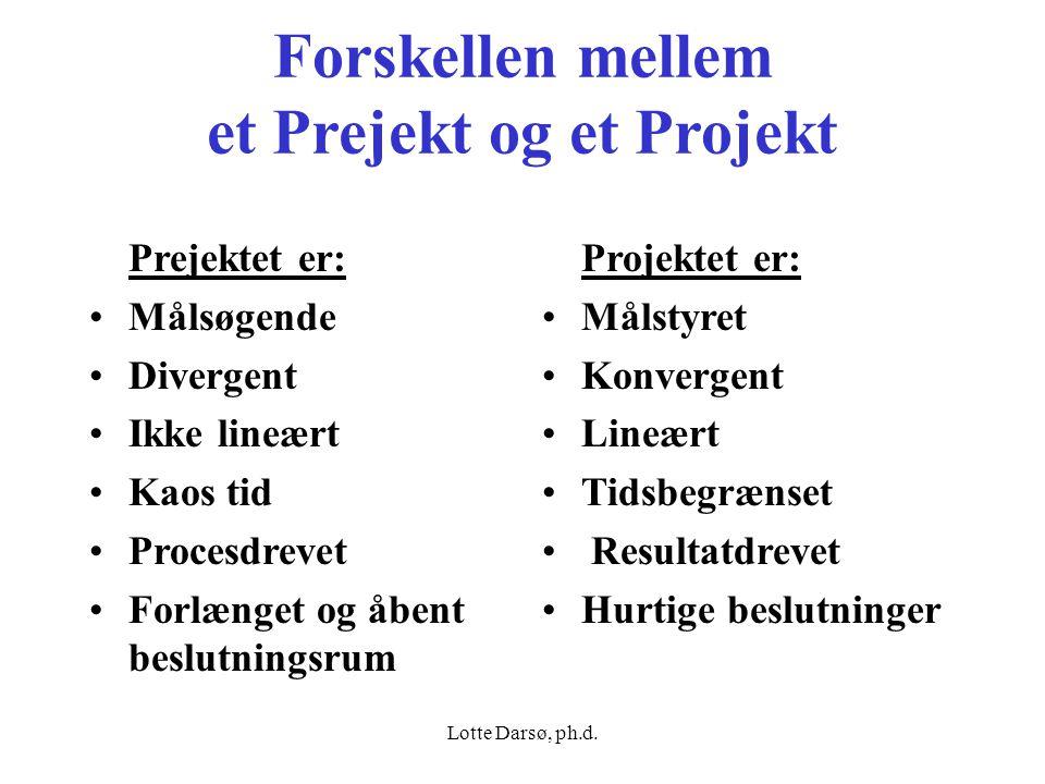 Forskellen mellem et Prejekt og et Projekt