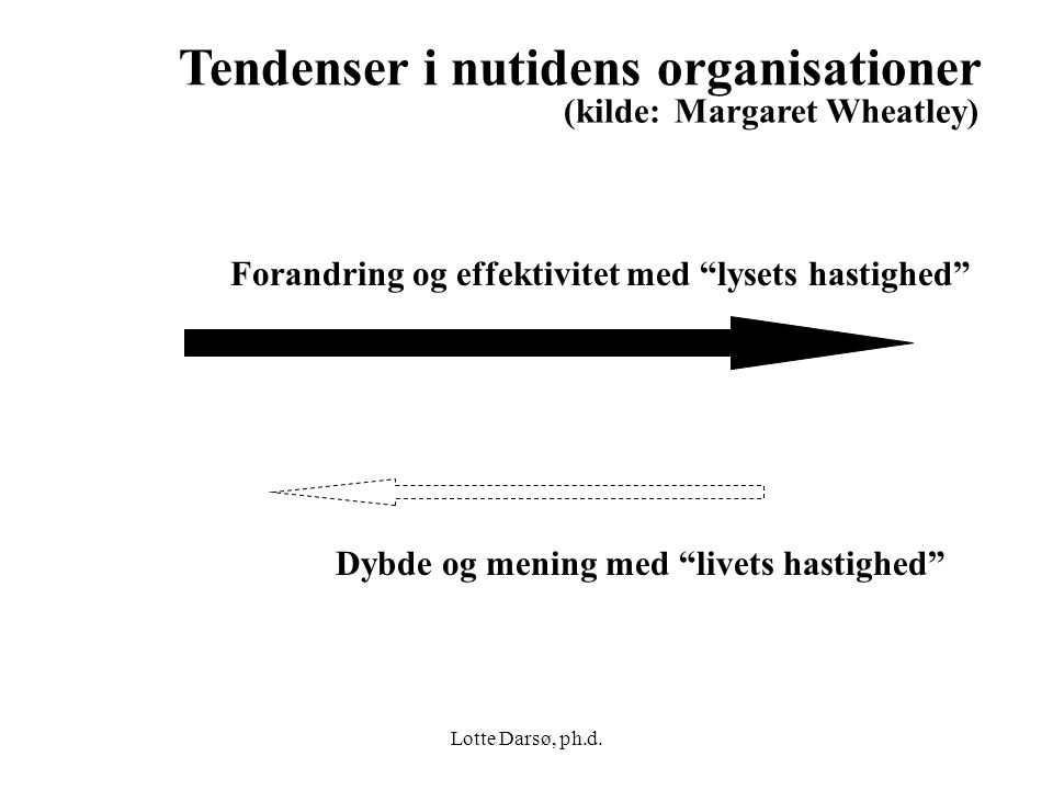 Tendenser i nutidens organisationer