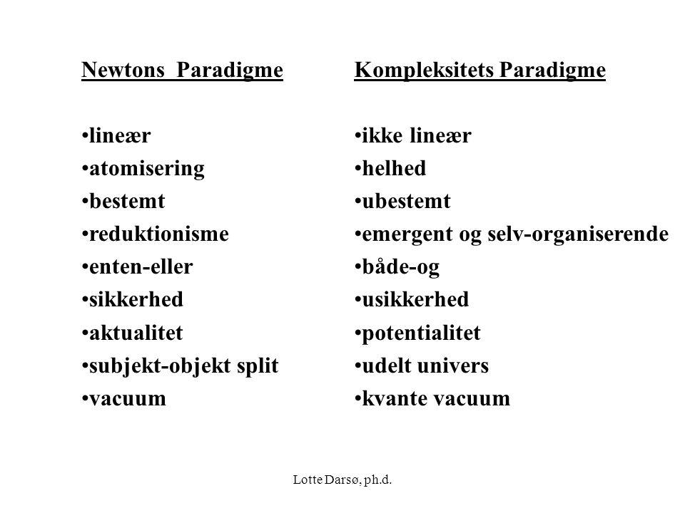 Kompleksitets Paradigme ikke lineær helhed ubestemt