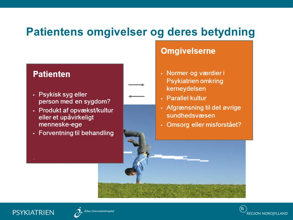 Patientens omgivelser og deres betydning