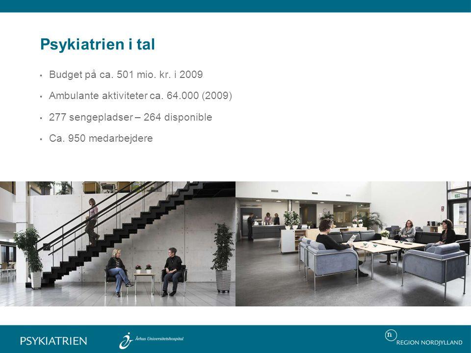 Psykiatrien i tal Budget på ca. 501 mio. kr. i 2009