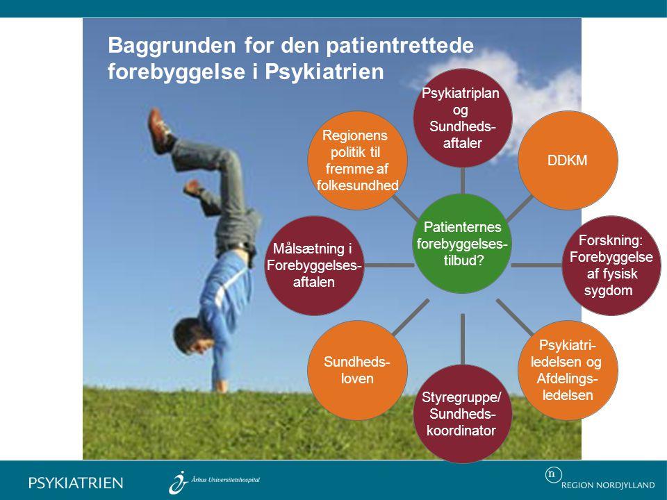Baggrunden for den patientrettede forebyggelse i Psykiatrien