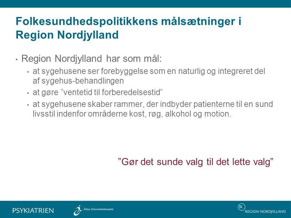 Folkesundhedspolitikkens målsætninger i Region Nordjylland