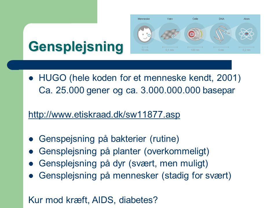 Gensplejsning HUGO (hele koden for et menneske kendt, 2001)