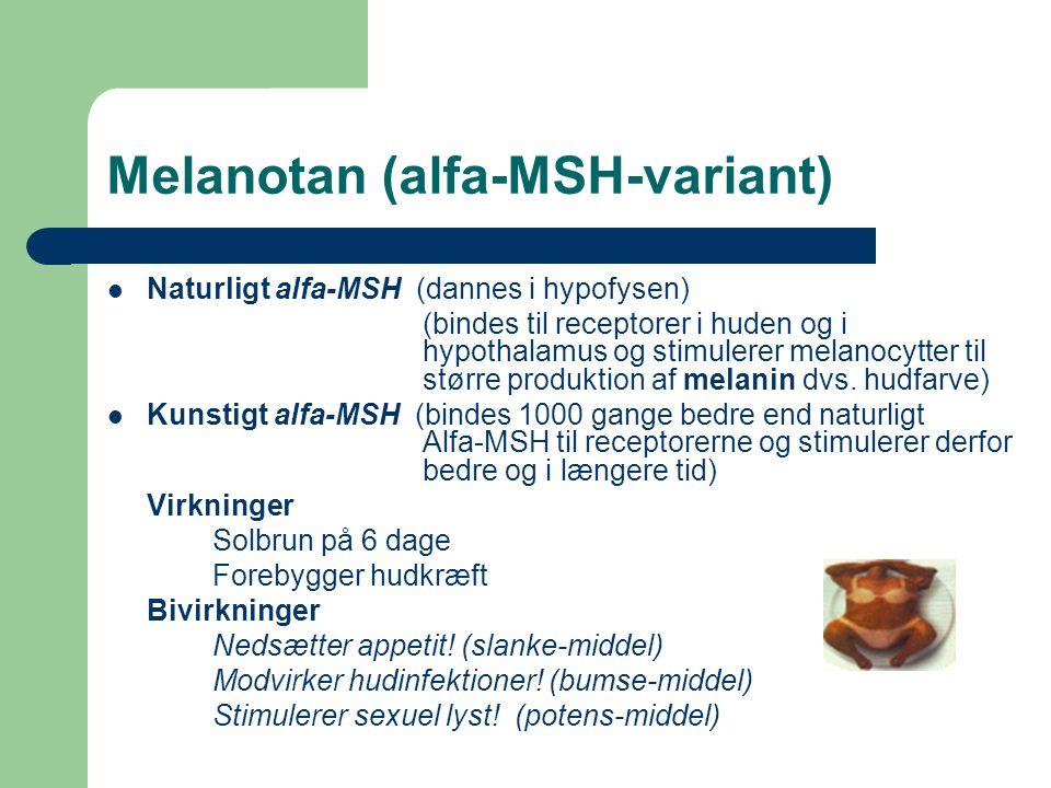 Melanotan (alfa-MSH-variant)