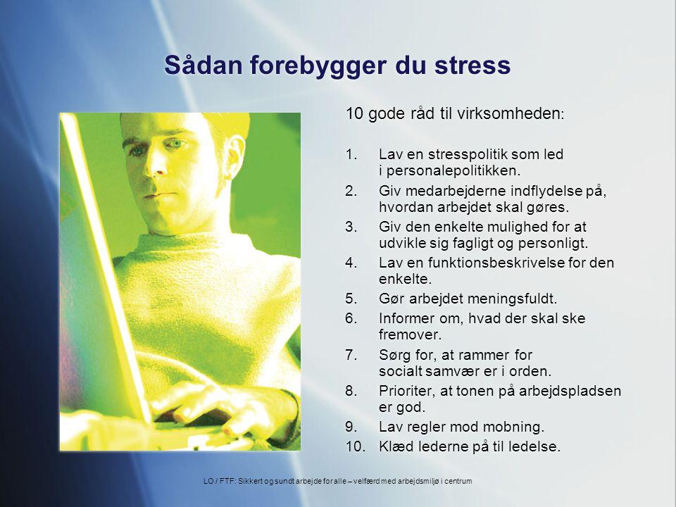 Sådan forebygger du stress