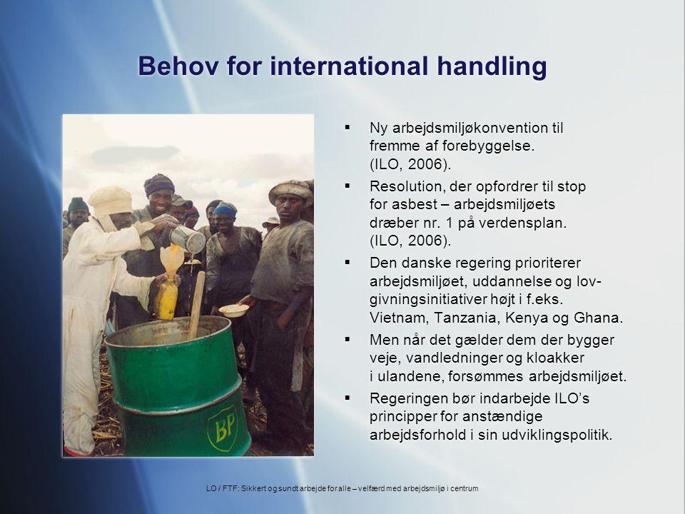 Behov for international handling