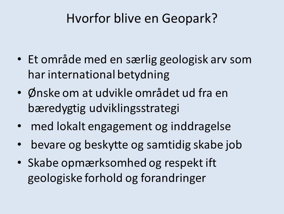 Hvorfor blive en Geopark