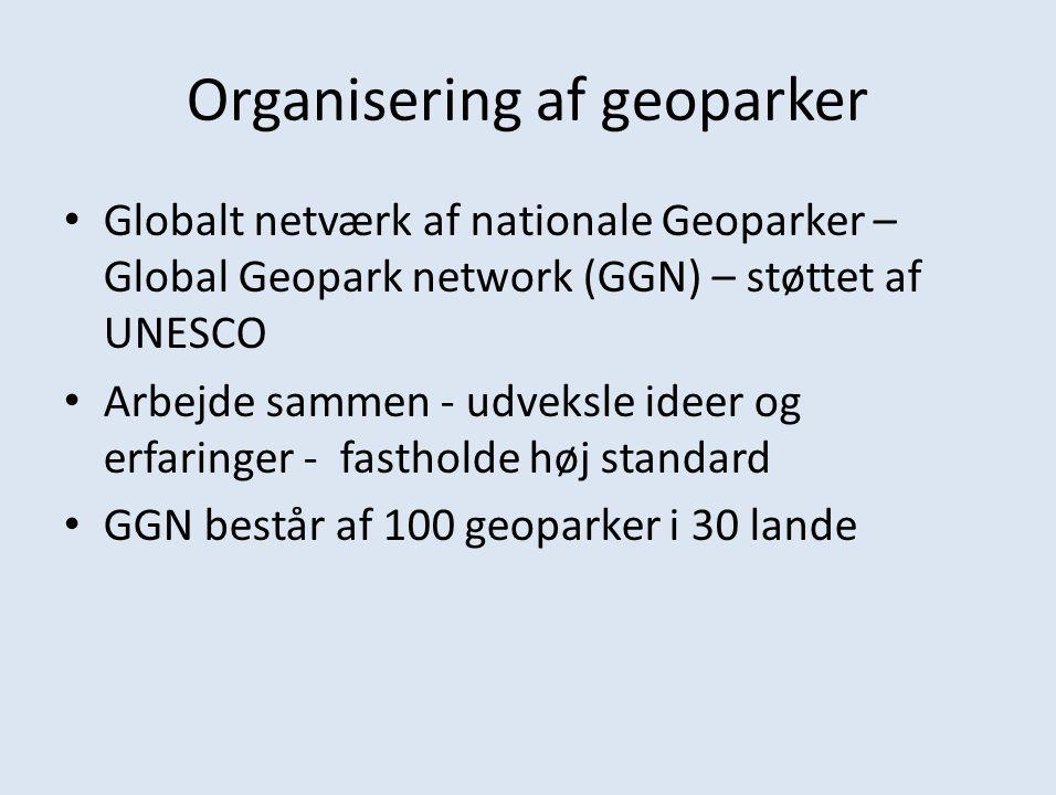 Organisering af geoparker