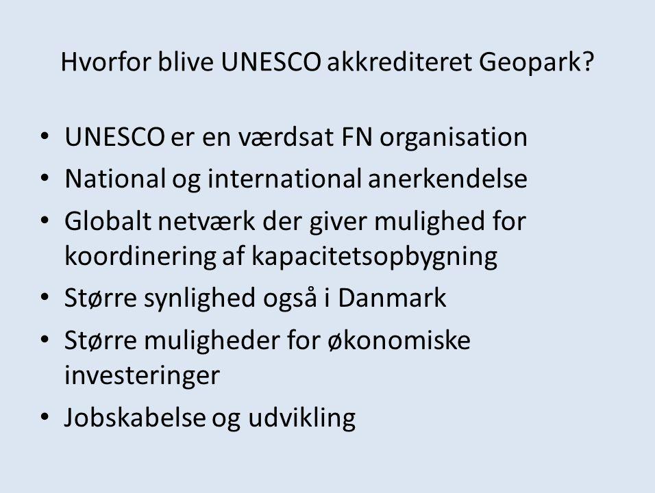 Hvorfor blive UNESCO akkrediteret Geopark