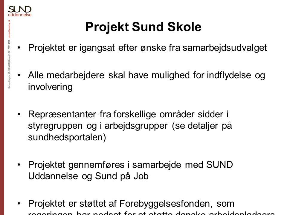 Projekt Sund Skole Projektet er igangsat efter ønske fra samarbejdsudvalget. Alle medarbejdere skal have mulighed for indflydelse og involvering.