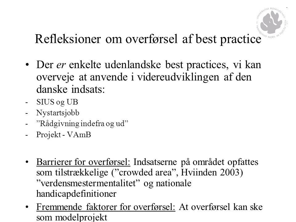 Refleksioner om overførsel af best practice