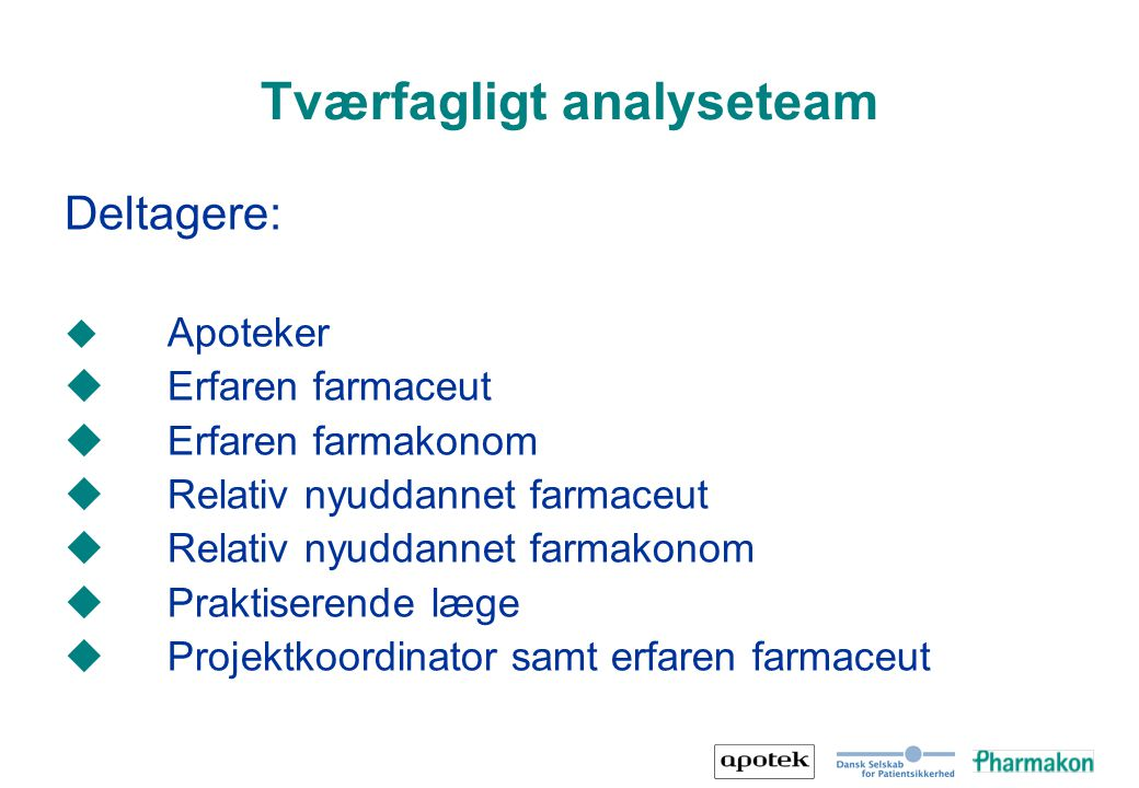 Tværfagligt analyseteam