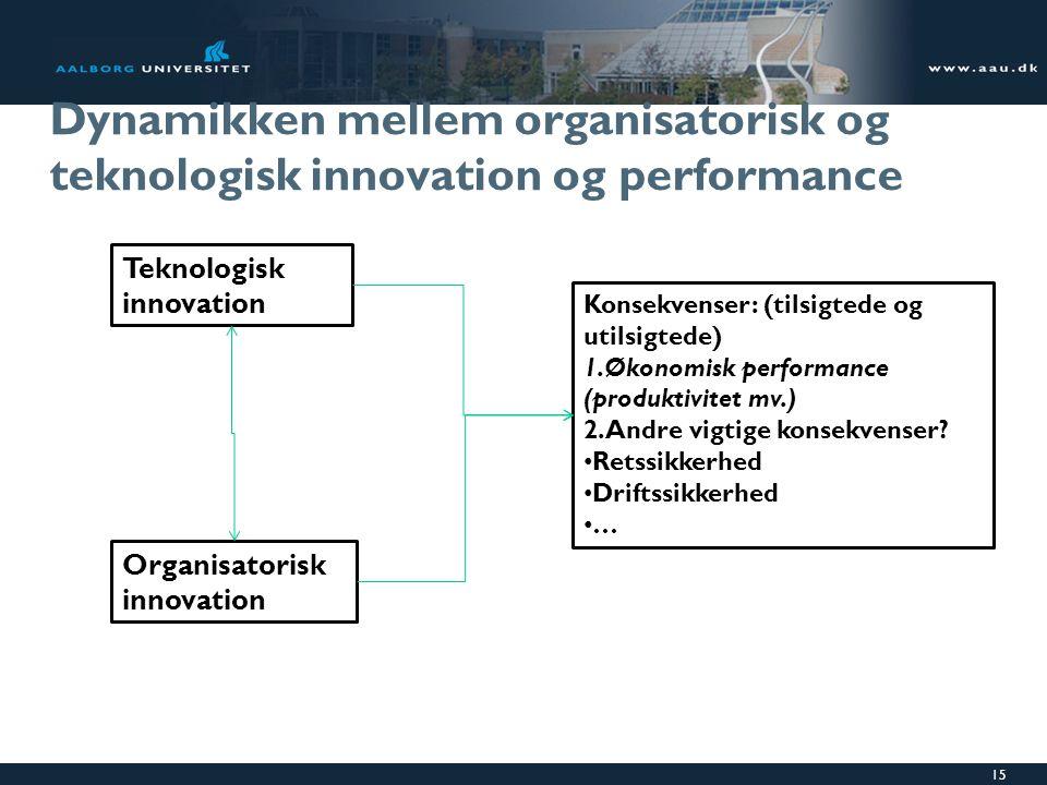 Dynamikken mellem organisatorisk og teknologisk innovation og performance
