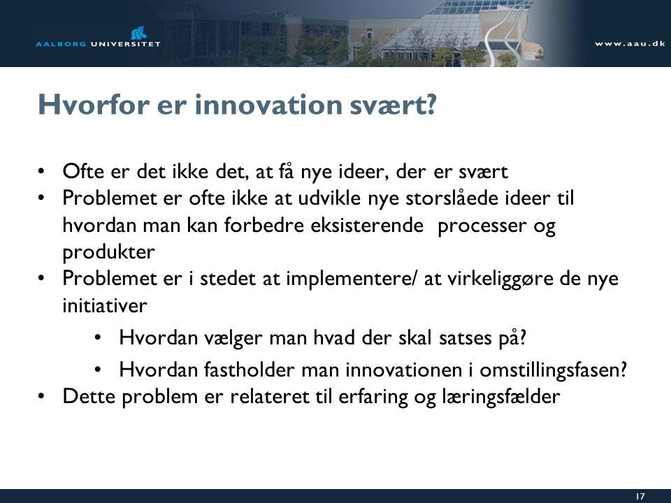 Hvorfor er innovation svært