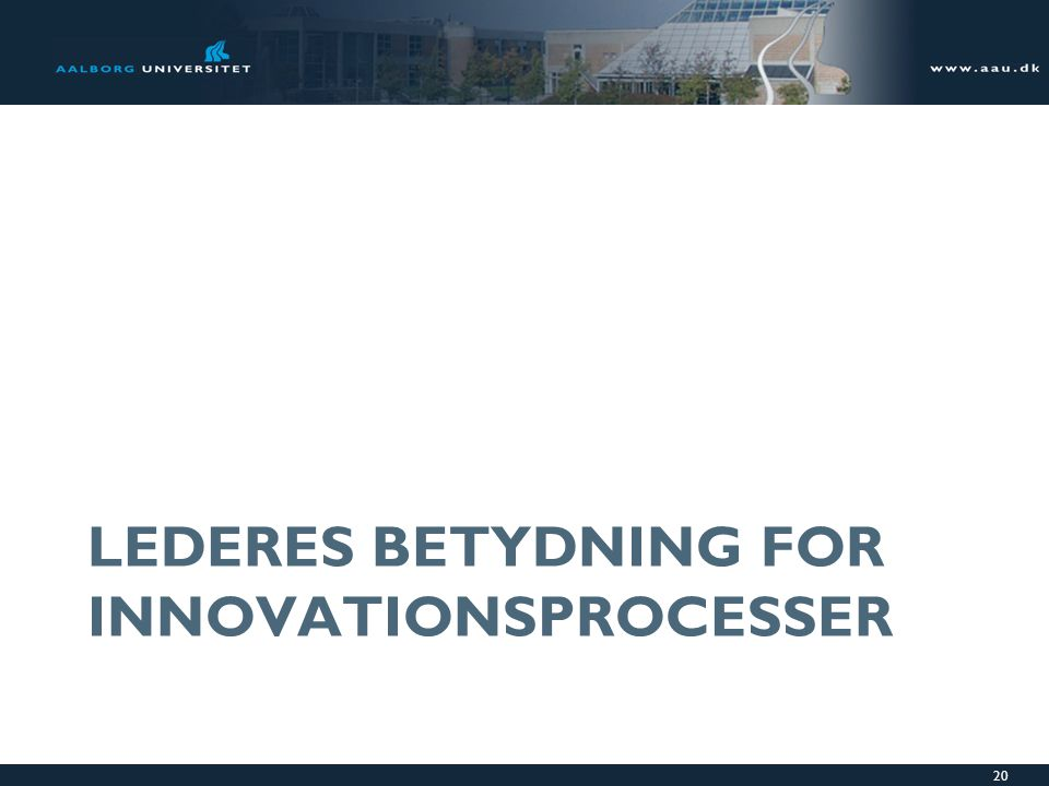 Lederes betydning for innovationsprocesser