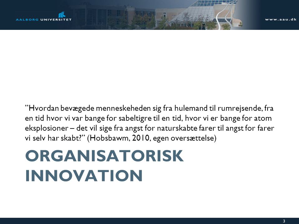 Organisatorisk innovation