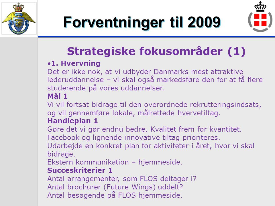 Strategiske fokusområder (1)