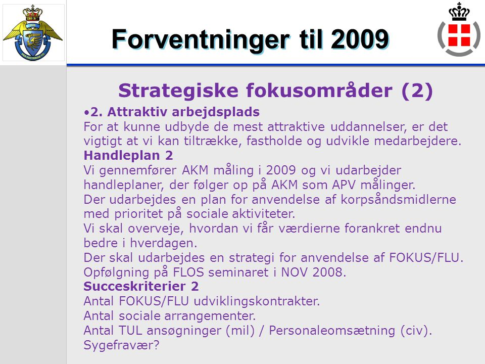 Strategiske fokusområder (2)