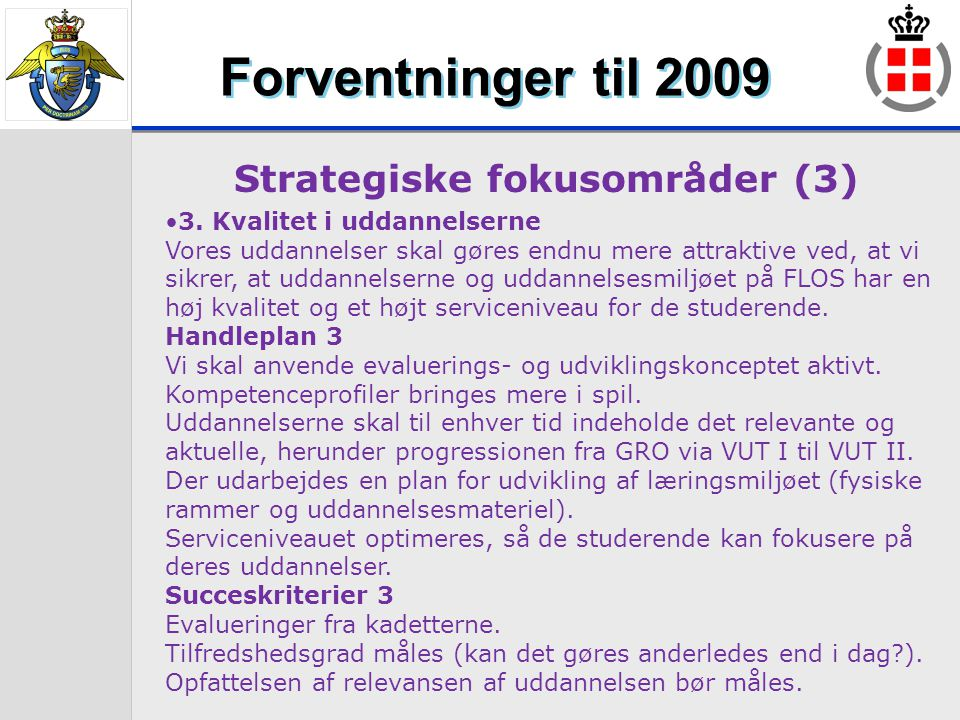 Strategiske fokusområder (3)