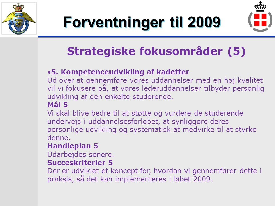 Strategiske fokusområder (5)